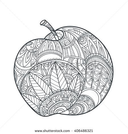 apple coloring pages for adults son80 s portfolio on shutterstock