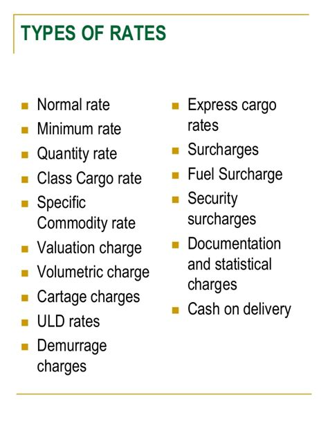 air cargo managenent charges