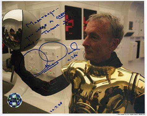 anthony daniels autograph star wars autograph anthony daniels c 3po