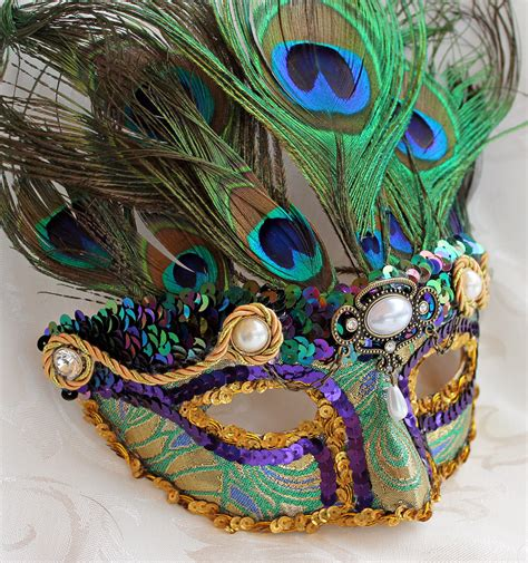 How To Make A Mardi Gras Mask Out Of Paper - proud as a peacock mardi gras mask by daragallery on