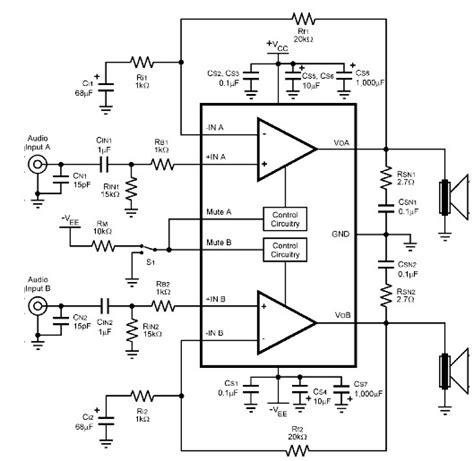 tda7265 lifier circuit diagram lm4780 audio lifier circuit circuit diagram world