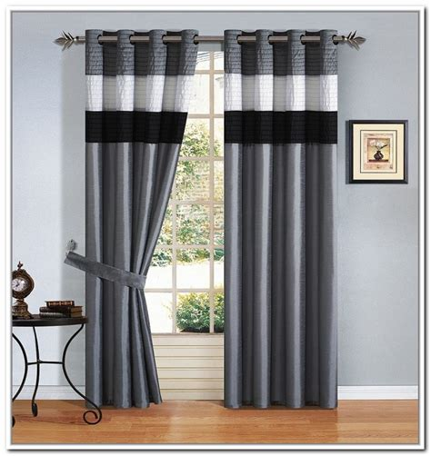 Black And White Window Curtains Living Room How To Spice Up The Room With Black And White Striped Curtains Luxury Busla Home