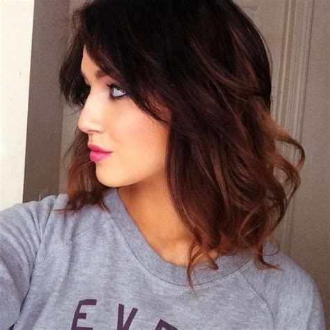 ombre hair color technique on older women dark brunette and warm ombre bob hair ideas pinterest