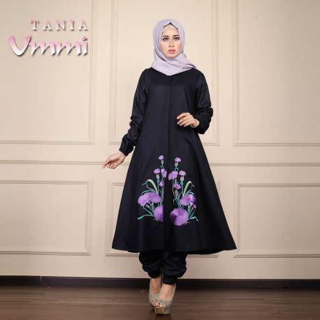 Tania Tunik Terlaris tania black baju muslim gamis modern