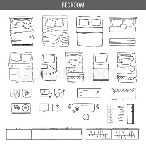 office floor plan top view stock illustration image 42916847 set of linear icons for interior top view plans isolated