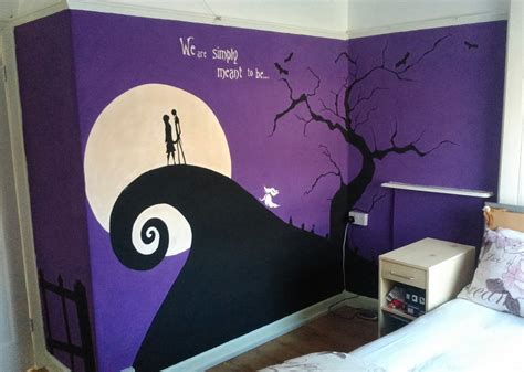 nightmare before christmas bedroom decor nightmare before christmas wall mural finished by anaseed
