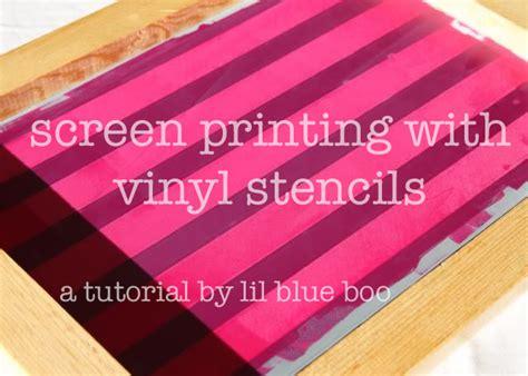 vinyl printing vs silkscreen screenprinting techniques using contact paper tutorial
