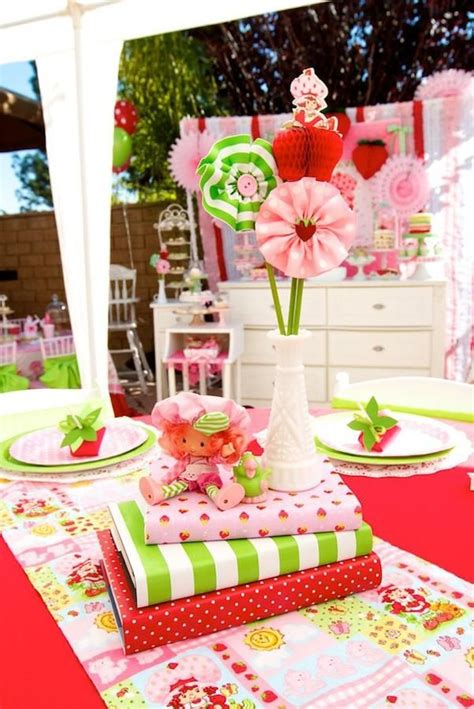 17 Best Images About Little Strawberry Party On Pinterest Strawberry Shortcake Centerpiece