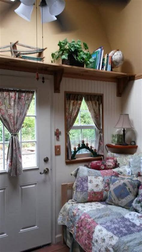 woman converts barn shed   sq ft tiny home