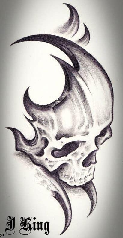 tribal skull tattoo design 40 tribal skull tattoos ideas