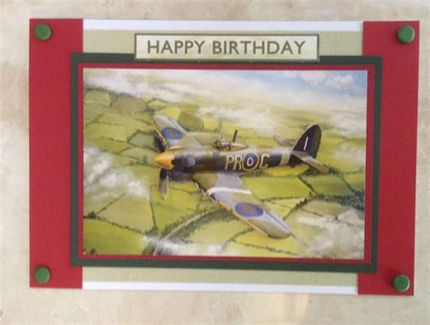 Aeroplane Template For Birthday Card by Handmade Happy Birthday Card 3d Decoupage Vintage Hawker