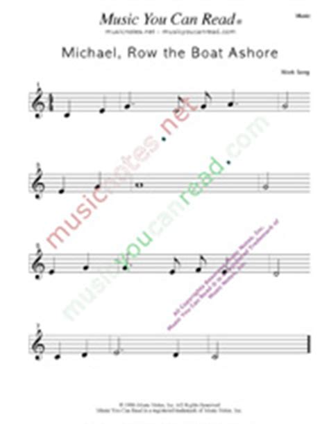 michael row the boat ashore history quot michael row the boat ashore quot lyrics music notes inc