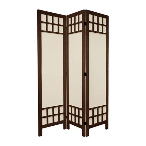 lowes room dividers shop furniture room dividers 3 panel burnt brown folding indoor privacy screen at lowes