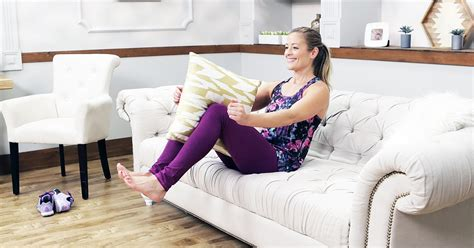 workout couch couch workout popsugar fitness