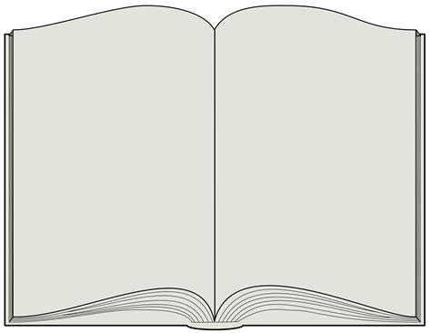 free printable open book template blank open book clip art