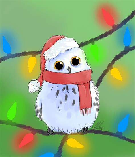 christmas owl pictures owl by firewolfyy on deviantart