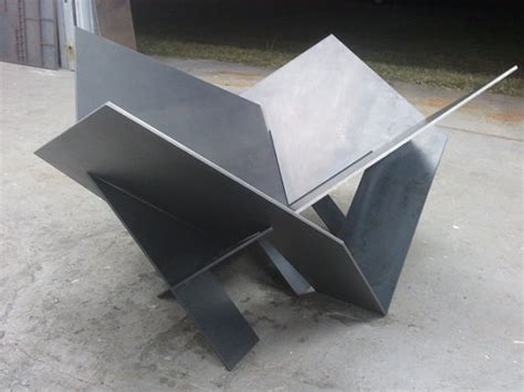 Modern Steel Fire Pit Industrial Metal Atomic By Metal Firepit