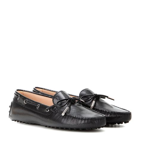 tod s loafers tod s heaven new laccetto leather loafers in black lyst