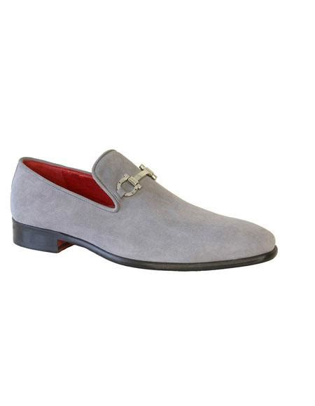 pattern on dress shoes men s light gray slip on suede pattern leather dress shoes