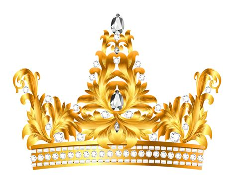 Kqueen Gold crown clipart transparent background pencil and in color