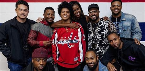 michelle obama verizon center bruno mars wearing a capitals jersey takes photo with