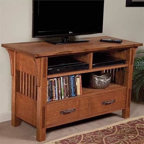 arts crafts tv stand downloadable plan