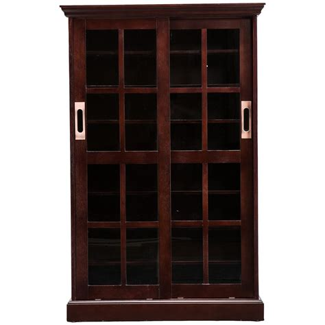 Entertainment Cabinets With Doors Sliding Cross Door Media Cabinet 579119 Entertainment Centers At Sportsman S Guide