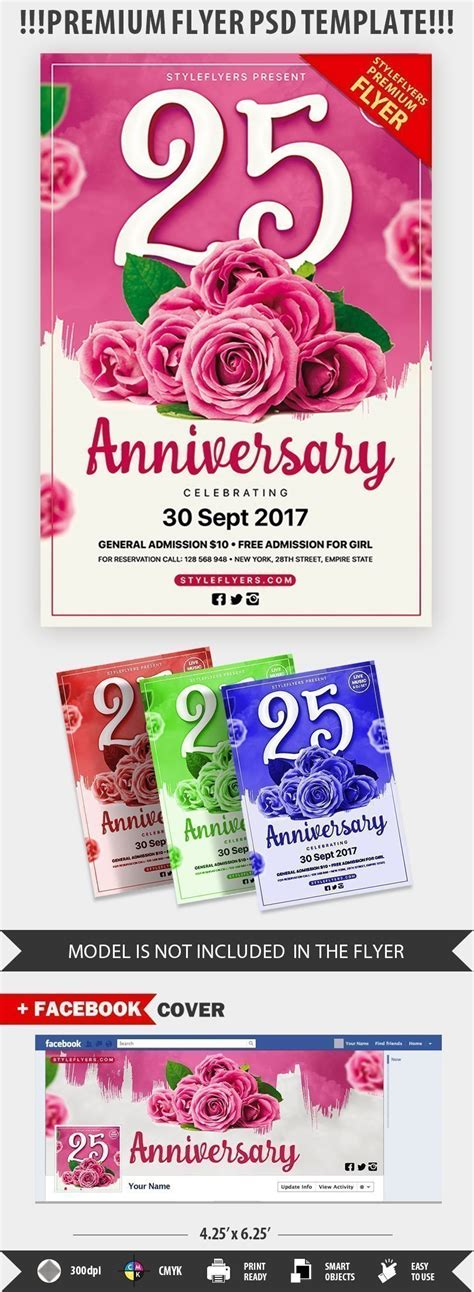 Anniversary Party Psd Flyer Template 20885 Styleflyers Flyer Template Psd 2