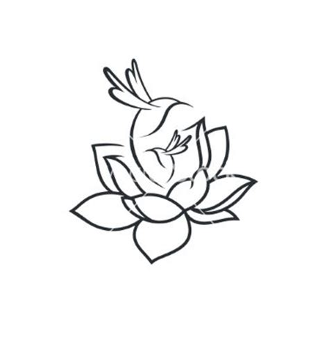 wrist tattoo template birds in flower sign vector lotus hummingbird by