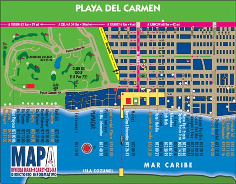printable map playa del carmen about the hotel nicole dan march 7th 2014