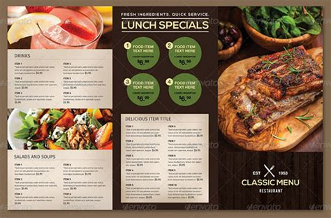 To Go Menu Template Free by Restaurant Menu Template 53 Free Psd Ai Vector Eps