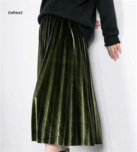 Velvet Pleated Maxi Skirt popular velvet maxi skirt buy cheap velvet maxi skirt lots