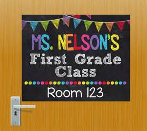 Classroom Door Signs Templates by Door Sign Personalized Sign Classroom Door