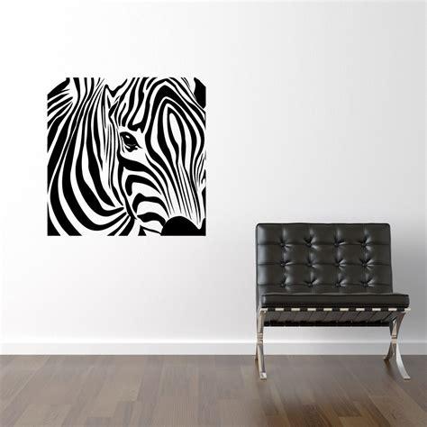 zebra wall sticker firkantet zebra wallsticker fra kun 199 kr