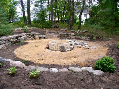 backyard landscaping pit backyard design ideas with pit large and beautiful