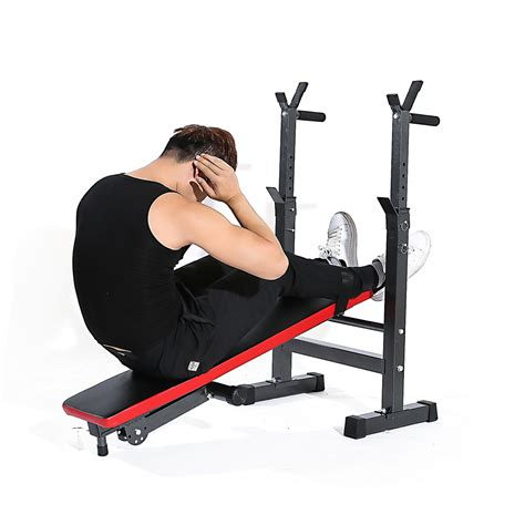 bench training tomshoo adjustable abdominal ab bench training gym weight