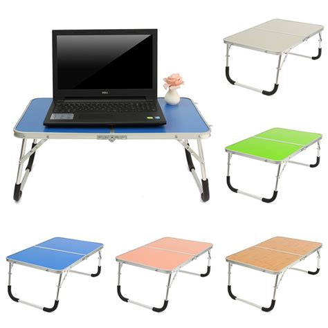 Laptop Desk On Bed Portable Laptop Desk Table Stand Holder Adjustable Folding Lapdesk Bed Sofa Tray Notebook