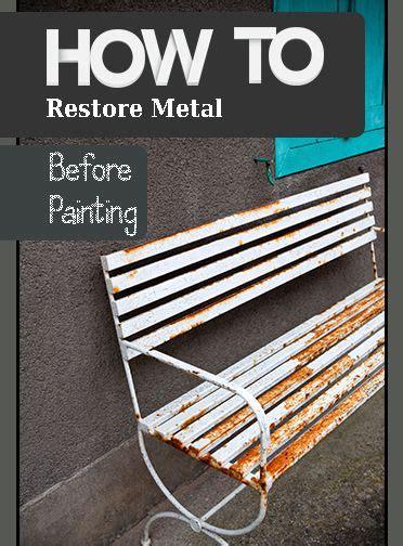 removing rust metals  metal furniture  pinterest