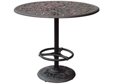 darlee cast aluminum outdoor patio round square bar stool darlee outdoor living series 80 cast aluminum antique