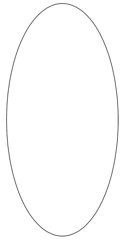 large oval template clipart best