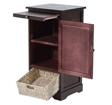 sofa table with storage bins wooden console table storage furniture straw cabinet