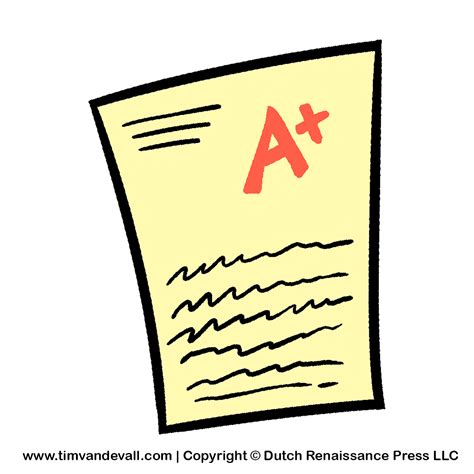 test-paper-clipart - Tim's Printables A-test Paper