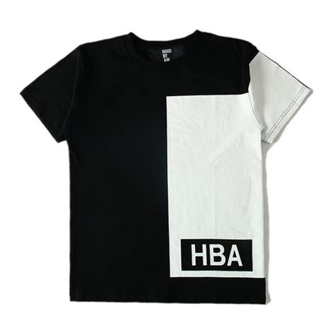 Sweater Hoodie Hba White Almira Collection by air quot hba illusion block quot t shirt black