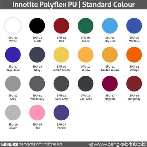 Jual Acrylic Warna Merah jual innolite polyflex pu made in korea bengkel print