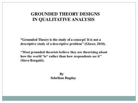grounded theory thesis grounded theory