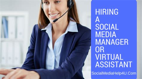 How To Hire An Assistant Manager Hiring A Social Media Manager Or Assistant