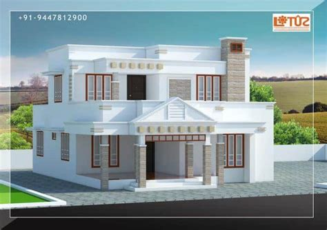 house plans in kerala with estimate modern house design in kerala under 30 lakhs estimate