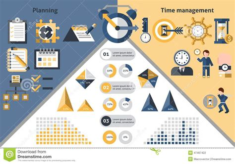 time management infographics stock vector image 47467422