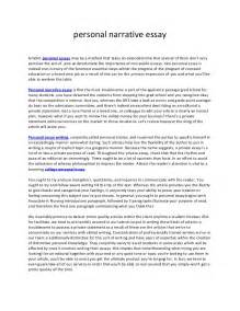 personal narrative essay sle personal narrative essay