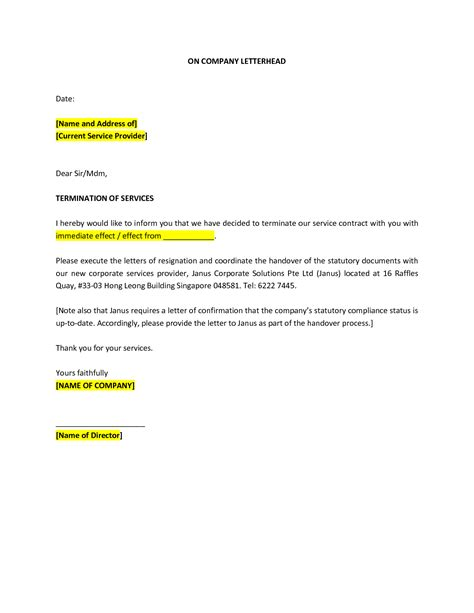 cancellation letter vodafone cancellation letter sle termination lease template